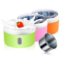 Wholesale yogurt makers - New 1.2L 15W Electric Automatic Yogurt Maker Stainless Steel Liner Container acidophilus Milk Tools Household Machine 220V