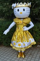 2016-6 new Christmas lovely fancy dress Frozen gold hello kitty Costumi Mascot halloween easter Performance Animal adulti costumi per ragazzi