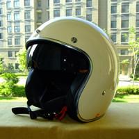 Wholesale helmets vintage - wholesale free shipping new Vcoros cascos capacete motorcycle helmet de motocicleta vintage jet pilot moto helmets DOT approved motoqueiro
