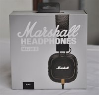 Wholesale Mk Phone - Marshall Major MK II 2 Black brown Headphones New Generation Headset Remote Mic 2nd pk MARSHALL MONITOR AAA quality