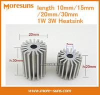 Wholesale 1w led heatsink - Wholesale- Free ship 10pcs 30mm LED sunflower radiator LED aluminum heatsink DIY lamp accessories 1W 3W 20MM diameter+30mm length radiator