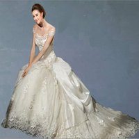 Wholesale Quinceanera White Collection - 2015 Collection Essence Best-selling A-Line Lace Wedding Dresses Cheap Custom Made Wedding dress Designer quinceanera dresses bride gowns