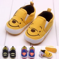 Wholesale Cheap Wholesale Loafer Shoes - Superman & Batman & pattern smiley baby toddler shoes. Boys slip bottom, loafers. Cheap China indoor walking shoes 12pair 24pcs