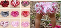 Wholesale Purple Bloomers - Lovely Baby Infant satin PP Pettiskirt Pants boxers Toddler Bloomers Ruffle Briefs 10colors S.M .L 0-3Y gift
