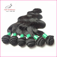 Wholesale Express Shipping Hair - Cheap Brazilian Hair Weaving Body Wave 100% human hair Color 1b Mix Length 12~30inch 50g bundles, 6pcs lot Express Free Shipping