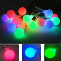 Wholesale Christams Decorations - 9M 20Leds Solar Led String Light Colorful Ball Light Outdoor Waterproof Christams Fairy Lights For Party Weeding Decoration 50X