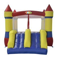 Wholesale Castle Jumpers - YARD homse use nylon mini bouncy castle bounce house inflatable jumper moonwalk trampoline toys with blower