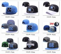 Wholesale Unc Hats - Top Quality Basketball Final Four North Carolina Tar Heels Snapback Hat Blue Black UNC Champions Blocking Embroidered UCLA Adjustable Cap