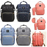 Wholesale Mother Doors - 5 Colors Multifunctional Baby Diaper Backpack Mommy Changing Bag Mummy Backpack Nappy Mother Maternity Backpacks CCA7872 50pcs