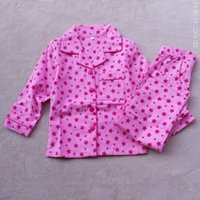 Wholesale Girl S Pajamas - New Kids pajamas children spring autumn pajamas girl boys sleepwear kids sleeping suit long sleeve clothes suit 3 colors 10 s l