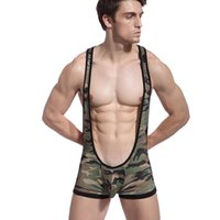Wholesale Gay Mens Underwear Brands - Hot Camouflage Men Underwear Sexy Elastic Cotton Home Shorts Gay Mens Clothing Brand Gay Boxer Underpants Jockstrap Strap