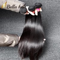 "Wholesale Bella Weave - Brazilian Hair Extensions Virgin Human Hair Weaves Natural Color Bella Hair Silky Straight 7A 8""-30"" 3pcs lot DHL"