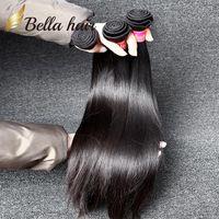 bella virgen brasileña al por mayor-Las extensiones brasileñas del pelo El pelo humano de la Virgen teje el color natural el pelo recto sedoso 9A 8