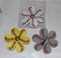 Wholesale Grass Shades - wholesale 2016 Real softall shades of Yellow hair bow with baseball embellishment Custom Real Yellow Softball Baseball Personalized