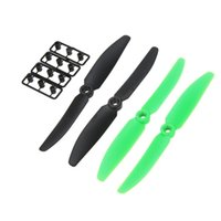 Wholesale Rc Plane Prop - 2 Pairs RC Plane Part 5030 5*3 Propeller 2-Blade Props CW CCW Black+Green for QAV250 C250 H250 RC Quadcopter order<$18no track