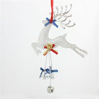 Wholesale Cheap Christmas Reindeer - Christmas Ornaments Cheap Christmas Gold Silver Color Reindeer Hanging Accessories 2 Sizes Christmas Baubles Enfeites De Natal