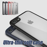 Wholesale Iphone Tpu Gel Bumper - For iPhone X Rugged Gel Bumper Protector Hard Cellphone Case Cover Case For iPhone 6S Plus iPhone 7 Plus with Retail Package