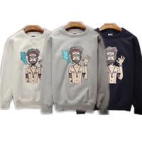 Wholesale Dark Grey Hoodie Men - 2015 Hot Sale Autumn Winter Fashion Print Men Hoodies Black  Grey White Dark Blue Full Sleeves Cotton Hip Hop Mens Sweatshirt
