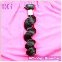 Wholesale Virgin Peruvian Grade 5a 4pcs - 5A grade quality human hair Peruvian virgin hair 4pcs lot loose wave virgin Peruvian hair Extension color 1B free shipping