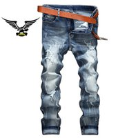 Wholesale Mens Black Jeans 36 - Fashion Mens Robin Rock Revival Jeans Street Style Boy Jeans Denim Pants Designer Trousers Men's Size 30-42 New 037-1