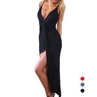Wholesale Womens Dress Maxi Asymmetrical - S5Q Womens Summer Sexy Casual Backless Maxi Beach Evening party Cocktail Dresses AAAFFI