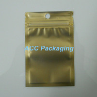 Wholesale plastic retail bags small for sale - Small cm quot Gold Clear Self Seal Zipper Plastic Retail Packaging Pack Bag Zip Lock Bag Retail Package With Hang Hole