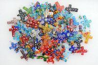 Wholesale Wholesale Millefiori - Lots of 50pcs millefiori glass Flower Cross Loose Beads Fit Bracelets and Necklace Charm DIY Jewelry #B9