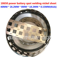 Wholesale Nickel Lithium - 18650 power lithium battery special spot welding nickel sheet, nickel plated steel sheet 0.15*40 punching 3 and 10 string
