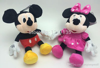 Wholesale Cloth Mouse - Promotion !New 30cm 1 pcs Lovely Mickey Minnie Mouse Anime Stuffed Animals Doll Plush Toys for Children Baby Toy Christmas Gift