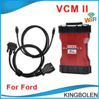 professionelle automobil-diagnosewerkzeuge großhandel-2017 Ford VCM II IDS mit wifi karte V96 version Professionelle Ford Diagnostic Programmierung und codierung werkzeug VCM2 VCM 2 unterstützung 21 sprachen