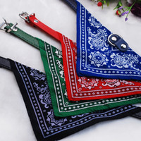 Wholesale Dog Cats Collars - 2015 New 30pcs Lot Wholesale Fashion Dog Bandana Triangle Scarf Collars Pet Cat Puppy Collars Fashion Dog Necklaces Pet Supplies