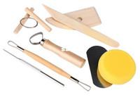Wholesale Wholesale Pottery Clay - Clay Tools Set Pottery Sculpture Tools Handmade Clay Sculpture DIY 8 PCS set