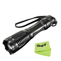 Wholesale T Cree Flashlight - 1800 Lumens 7-Modes Adjustable Zoomable Flashlight Torch light CREE XM-L T6 LED Focus Lantern LED Flashlight Lamp 0.55-SD023H order<$15 no t
