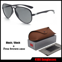 Wholesale Leather Glasses Cases For Men - AAA+ High quality Brand Designer Sunglasses for Men women with Leather brown cases Classical Sun glasses uv400 Goggle