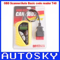 Wholesale New Factory Car Seats - New arrival Factory OBD Scanner Auto Basic Code reader T40 (Mutilingual) for Most of cars T40 Code reader