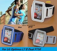 Wholesale Lg L7 Pouch - Wholesale-For LG Optimus L7 II Dual P750 New hot Casual PU Brush Surface Workout Cover Sport Gym Case Arm Band Holder Waterproof Pouch