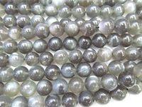 Wholesale Bead Strand Moonstone - High Quality 4-12mm full strand Natural moonstone gems Round Ball white grey black flashy jewelry beads