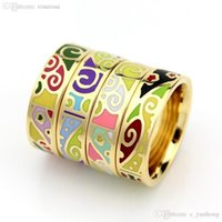 Wholesale R4 Wholesale - Wholesale-Newest Ring Thin 0.6cm Width Rose Gold Ribbon Abstract Pattern Design Enamel Jewelry Ring, 1 Piece pack R4