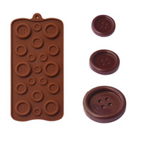Wholesale Button Chocolate Mold - Lovely and Cute Button Shape Cake Mold Decorative Silicone Easy Clean 3D Candy Pastry Mould Chocolate Mold Baking Mould