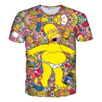 Compra Camicia Simpson Homer-All'ingrosso-Donne Uomini Homer J Simpson 3d t shirt Cartoon Simpson T-SHIRT Homer Jay Simpson Tee manica corta estate Camicie Tees T