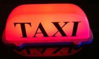 Wholesale Taxi Roof Signs - New LED Roof Taxi Sign 12V with Magnetic Base, red blue pink white optional