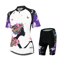 acc8efde6 Wholesale-ARSUXEO Women Summer Bike Bicycle Cycling Clothing Set Breathable  Quick Dry Short Sleeves Jersey + 3D Coolmax Padded Shorts Suit ...