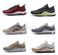 Novo 97 UL 17 Trainers Racer Gold Star Running Shoes Air 97 Neon Wolf Gray 97 Ultra Premium Designer nos pega 7-12