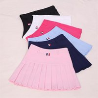 Wholesale Plus Size Girls Uniforms - Harajuku Women Ball Pleated Skirts School Style Uniform 2017 Spring Summer Plus Size Korean Girls A-line High Waist Mini Skirts