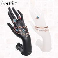Wholesale Bangle Display Hand - Hand Shape Model Ring Earring Display Shelf Holder Bracelet Stand Rack Jewelry Organizer Hand Bangle Decoration Frame A132