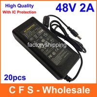 Wholesale 48v power charger resale online - 20pcs High Quality AC DC V A Power Supply Adapter V Adaptor Charger mm Fedex