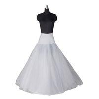 vestidos de novia enaguas al por mayor-Envío gratis Stock blanco más nuevo enagua Hoopless para vestidos de fiesta nupciales una línea de vestidos de novia enaguas accesorios nupciales