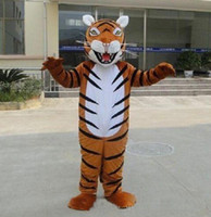 Wholesale Teams Mascot Costumes - 2018 Factory direct sale Tiger Animal Mascot Costume Event Cheerleading School Team halloween