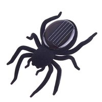 Wholesale Solar Energy Birthday Gifts - Hot Sale Robot Christmas Birthday gift Black 8 Legs Solar Spider Educational toys for children solar Powered Energy free shippin