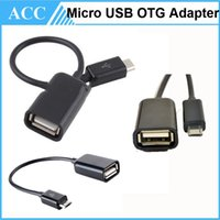Wholesale Android Tablet Otg Cable - OTG Cable Mini Micro USB Male to USB 2.0 Female OTG Adapter Cable For Android Cell Phone Samsung Tablet 100pcs